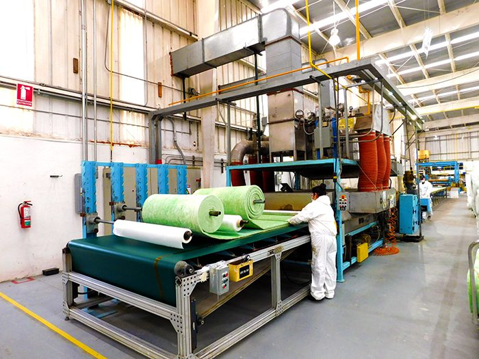 Worker handling materials